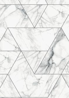 Marble Mosaic Wallpaper in White by KEK Amsterdam