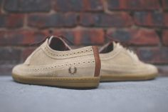 Fred Perry x Drakes Eton Suede Wingtip Brogue