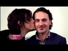 Norman...kissing Andy...for Valentines! ♥♥♥ #Bromance