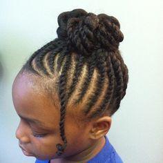 Girl's Natural hairstyle - Ballerina bun! Twist updo