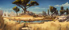 Fun Landscaping Inspiration – My Best Rock Landscaping Ideas Landscape Concept, Fantasy Landscape, Landscape Art, Landscape Paintings, Landscapes, Fantasy Places, Fantasy World, Fantasy Art, Environment Concept Art