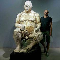 Disturbed, Figurative Ceramic Sculptures by Lars Calmar Sculpture Head, Abstract Sculpture, Statues, Masculine Art, Human Oddities, Found Art, Contemporary Sculpture, Guy Drawing, Gay Art