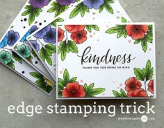 Edge Stamping Trick - Jennifer McGuire Ink