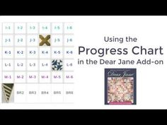 Using the Dear Jane Progress Chart   Articles   Electric Quilt Support
