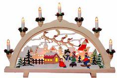"""Star Fensterleuchter """" Deutsche Weihnacht"""" 7-flammig, 38 x 57 cm, klare Birnchen Motiv: Weihnachtsdorf, Vierfarb-Karton 270-07 Star http://www.amazon.de/dp/B00G7NH0RA/ref=cm_sw_r_pi_dp_p83pwb0036G8N"""