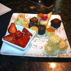 The Melting Pot dessert. Here is the great ideas for our next fondue.