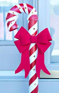 Bastón+caramelo+con+tubos+de+PVC