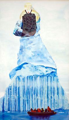 """Iceberg"" by Elizabeth Kauffman, 2012, oil on canvas, 56 x 33 inches"