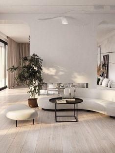Minimalist Living, Minimalist Interior, Minimalist Decor, Modern Minimalist, Minimalist Design, Apartment Interior, Interior Design Living Room, Design Bedroom, Appartment Design