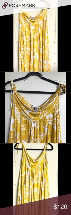 Dane Von Furstenberg Silk Summer Dress Size 8 Diane Von Furstenberg breezy, cool silk summer dress.  Loose and flowing with shoulder ties.  Fits wide range of sizes.  Perfect for beach, barbecues, summer parties.  New with tags, never worn.  Size 8. Diane von Furstenberg Dresses