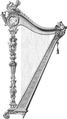 Dibujo de arpa