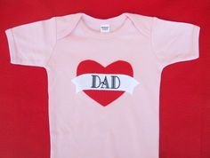 it's pink!  Father's Day - Daddy's Little Girl,  I LOVE DAD Tattoo Slate Pink Tshirt Heart, Children Clothing  - Father's Day Gift, New Dad, $19.95