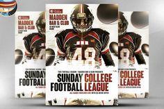 American Football Flyer Template 3 by FlyerHeroes on @creativemarket