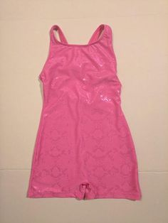 Bright pink with a shiny design. Great for class or as an acro costume. Acro Dance, Jazz Costumes, Bright Pink, Athletic Tank Tops, Youth, Brand New, Skirts, Stuff To Buy, Collection