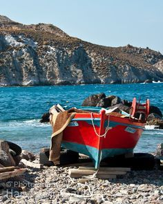 Red Boat - Patmos  Greece... I think I remember seeing this exact boat