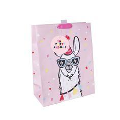 Llama Print Gift Bag Pink - Spritz Birthday Gift Bags, Happy Birthday Gifts, Baby Birthday, Paper Gift Bags, Gift Wrapping Paper, Paper Gifts, Llama Print, Llama Llama, Llama Gifts