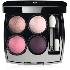CHANEL LES 4 OMBRES Multi-Effect Quadra Eyeshadow ($61) ❤ liked on Polyvore featuring beauty products, makeup, eye makeup, eyeshadow, beauty, eyes, accessories, metallic eyeshadow, black eye makeup and matte eye shadow