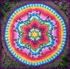 Crocheted Starflower Mandala