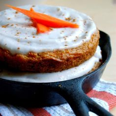 Vegan Skillet Carrot Cake with Coconut Cream Icing | 23 Skillet Cakes That Anyone Can Make