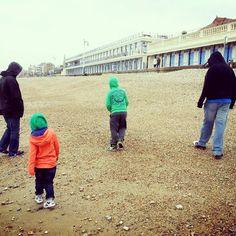 Weekend stroll on the beach