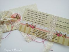Invitation and favor Favors, Invitations, Sugar, Pearls, Presents, Host Gifts, Beads, Save The Date Invitations, Beading