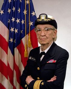 "Rear Admiral ""Amazing"" Grace Hopper was one of the first (and finest) computer programmers in history. She was also a badass mofo, blazing against institutional blockheadedness her entire (extremely long) career. She created the first compiler and spearheaded the creation of COBOL, one of the first compiled computer languages – opening up the field of programming to people who didn't have high-level math degrees. From: http://www.rejectedprincesses.com/blog/modern-worthies/grace-hopper/"