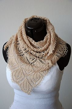 Ravelry: Crystal Chandelier Shawl pattern by Maria Olsson...lovely for Summer