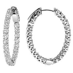 Hoppe Jewelers - 74RD D=1.97CTW 14KW OVAL INSIDE/OUT HOOP EARS, $3299.0 (http://www.hoppejewelers.com/74rd-d-1-96ctw-14kw-oval-inside-out-hoop-ears-fold/)
