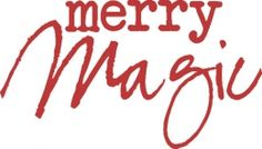 Stamp It Stamp Merry Magic Woodmount Stamp Stamps, Merry, Peace, Magic, Words, Christmas, Seals, Xmas, Navidad