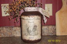 Large primitive grungy jar.