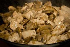 Fényképes Gombás csirke wokban recept