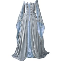 Elizabethan Gown - edited by mlleemilee Elizabethan Gown, Medieval Gown, Renaissance Dresses, Beautiful Gowns, Beautiful Outfits, Polyvore Outfits, Old Fashion Dresses, Women's Fashion, Fantasy Gowns