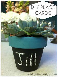 A Delightful Design: succulent place cards DIY
