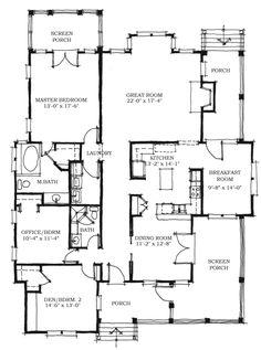 Allison Ramsey Architects | Floorplan for Schooner Creek Cottage - 1928 sqaure foot house plan # C0353