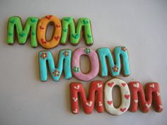 Mother's Day Cookies Repinned By:#TheCookieCutterCompany