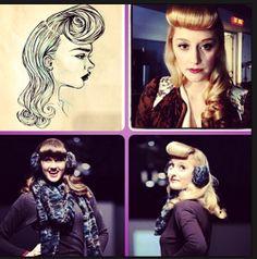 Bernice & Barclay  Runway Fall/Winter 2013-14 Hair by Sylvie The Loft Toronto