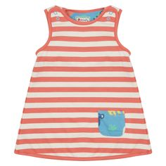 Green Midnight Owl Print with Stripes Soft Organic Jersey Piccalilly Childrens Reversible Dress