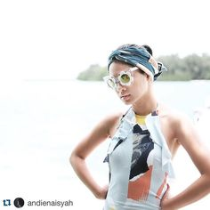 #Repost @andienaisyah ・・・ Anak Pulau Seribu ☀️ Featuring this lovely Linda Farrow Daisy sunnies from Optik Seis   #andientrips #andienpulauseributrip