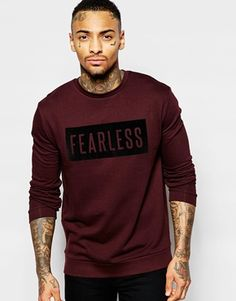 ASOS Sweatshirt With Fearless Print