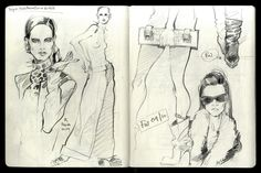 Mole fashion sketches/part 1 on Behance