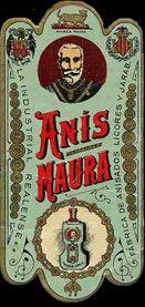 No sólo había anises con nombres de toreros. El político Antonio Maura (antepasado de la conocida actriz) también fue imagen de una marca de anis.