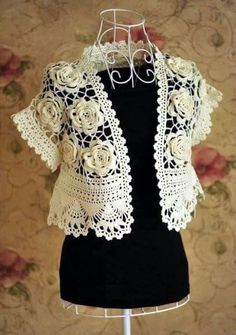 Patrón #1073: Chaleco de Flores a Crochet   CTejidas [Crochet y Dos Agujas]