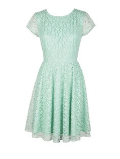 Mint Lace Dress: 100 Lace Dresses for Summer: Style: teenvogue.com