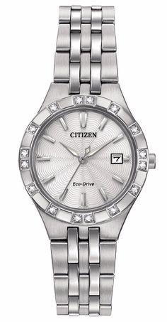 #jewelry Citizen Eco-Drive Women's EW2330-51A Diamond Accents Silver Tone Watch please retweet
