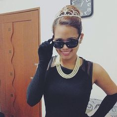 Costume jewelry, a tiara, gloves, and a LBD will transform you into a glamorous film star just in time for Halloween parties. Source: Instagram user lewiiii