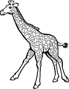 Giraffe With Funny Face Coloring Pages For Kids #dcS