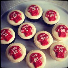San Francisco 49er cupcakes. Go Niners!