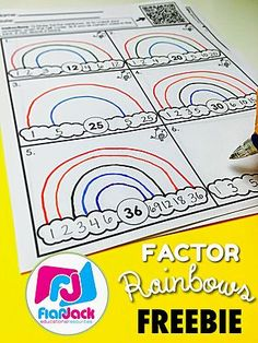 Factor Rainbows FREEBIE & Bundle | FlapJack Educational Resources | Bloglovin'