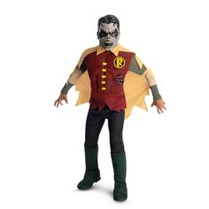 Spell-binding The Blackest Night Deluxe Zombie Robin Child Costume. Cool array of DC Comics Costumes for Birthday at PartyBell. Dc Comic Costumes, Costume Garçon, Adult Costumes, Zombie Costumes, Costume Ideas, Superhero Costumes Kids, Kids Costumes Boys, Robin Halloween Costume