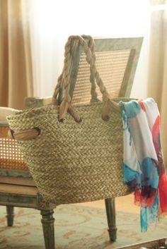 Fringe Straw Bag. Leather Beach Bag. Large Straw Bag. Beach Straw ...